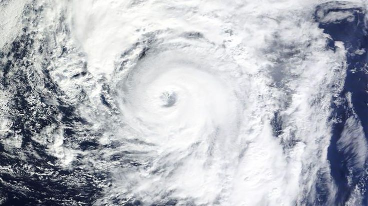 Hurricane Alex, as seen via a NASA satellite image
