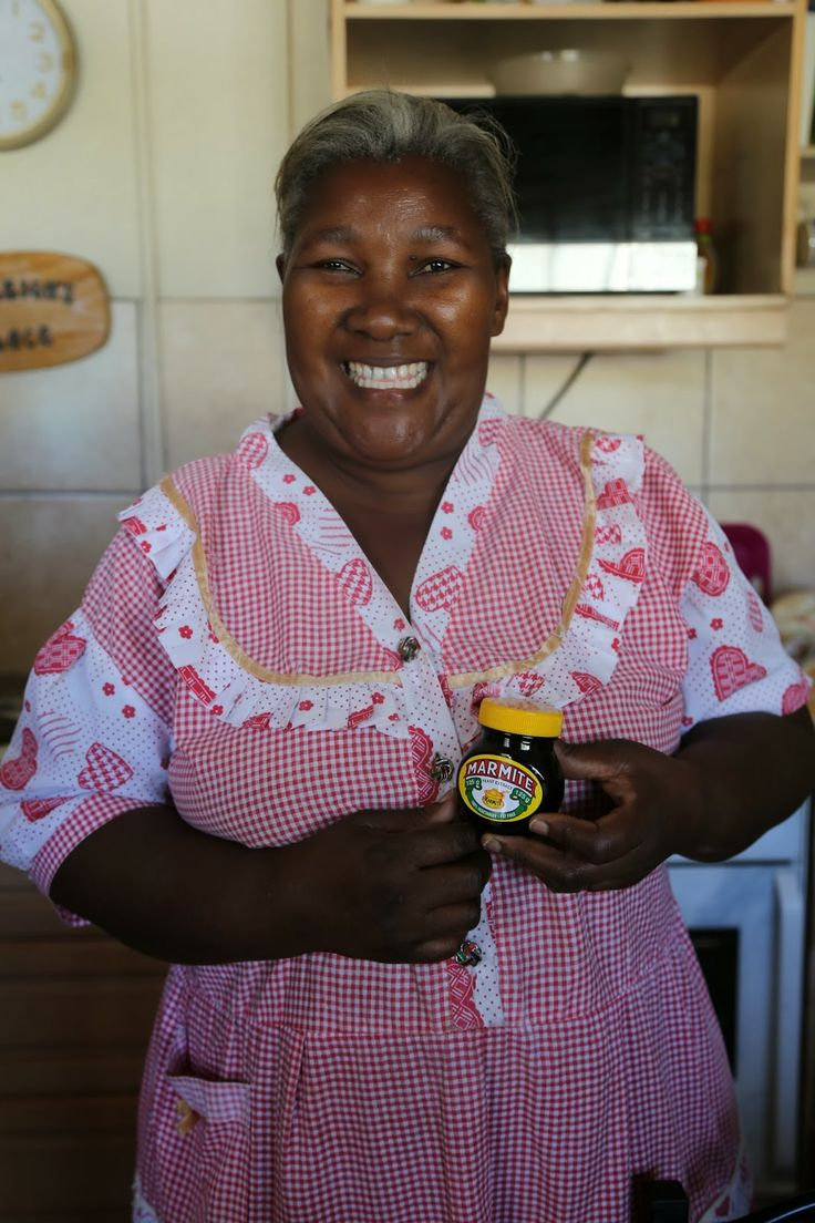 Primrose, a house mother for orphaned children, receiving her food delivery from NorSA (Norwegian/South African social programme for orphans).