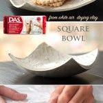 Квадратна+купа+от+бързосъхнеща+глина