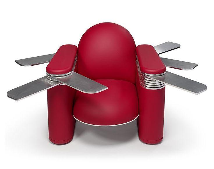 Fabrice Hyber - fauteuil couteau suisse ouvert - Domeau & Pérès