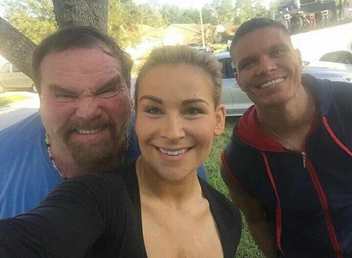 Natalya, Dad Jimmy Hart, TJ