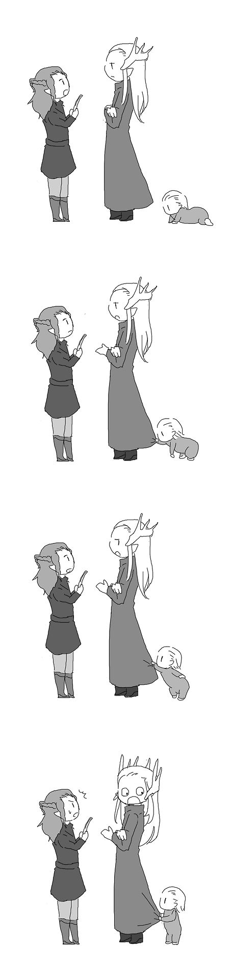 Thranduil and Legolas, this is too damn adorable..