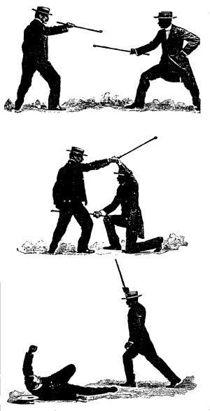 Self-defence with a Walking-stick: The Different Methods of Defending Oneself with a Walking-Stick or Umbrella when Attacked under Unequal Conditions (PartI)