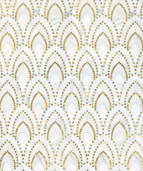 Канадская фабрика Mosaique Surface и дизайн-студия из Монреаля BlazysGerard объединили свои усилия для создания коллекции мозаики из камня в духе ар-деко. Геометрические орнаменты серии дополнены вставками из ювелирных металлов, венецианского стекла и драгоценных камней.
