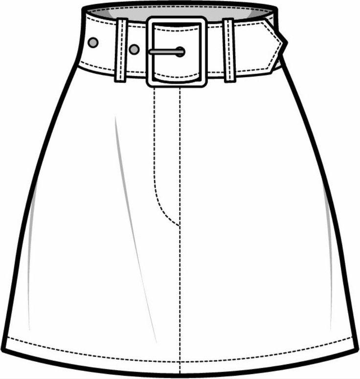 модели юбок рисунок готовился