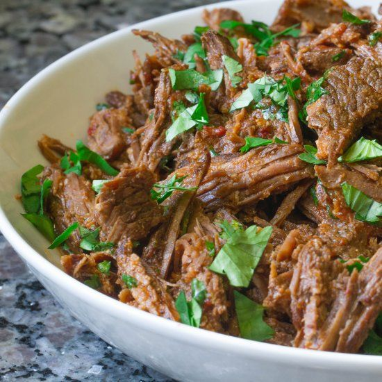 The BEST Beef Barbacoa recipe done in a fraction of the time thanks to the pressure cooker! Deliciousness awaits!