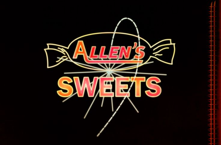 Another reproduction of a sadly demolished neon sign. The Allen's Sweets sign dominated Melbourne's Southbank for over 20 years before it was demolished with the factory in 1987. I have done a 30 second animated sequence detailing the neon cycle on my blog: georgeatomic.blogspot.com.au/2014/08/allens-sweets-sign.html