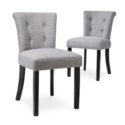 Threshold Scrollback With Nailhead Dining Chair Set Of