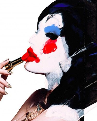 Sara Pope  Lacey Contemporary Gallery Notting Hill London  Pop Art Lipstick Make up  Glamour