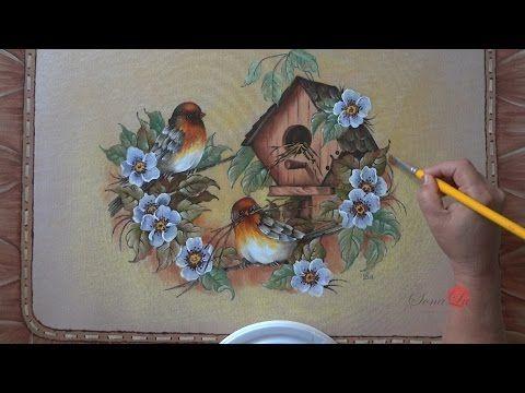 Pássaro 2 e fundo em emborrachado (Aula 8) - YouTube