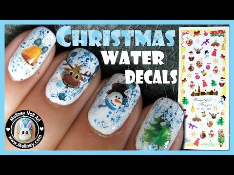 220 best meliney nail art design videos images on pinterest art christmas water decal nails easy simple nail art design meliney how to video youtube prinsesfo Gallery