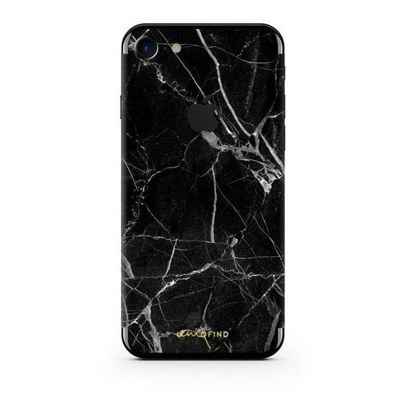 Black Hyper Marble iPhone Skin Case ($25) ❤ liked on Polyvore featuring accessories, tech accessories, iphone cover case, apple iphone case and iphone cases