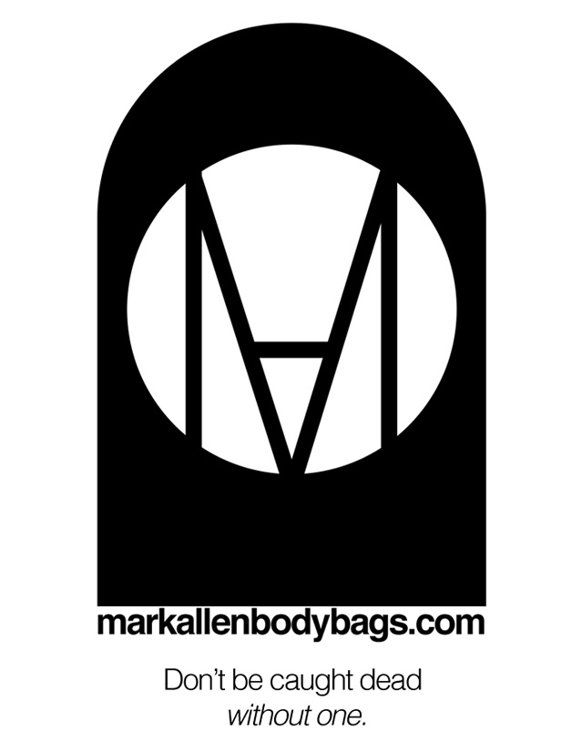 Just ordered a few hundred vinyl stickers. Available by request at markallenbodybags.com