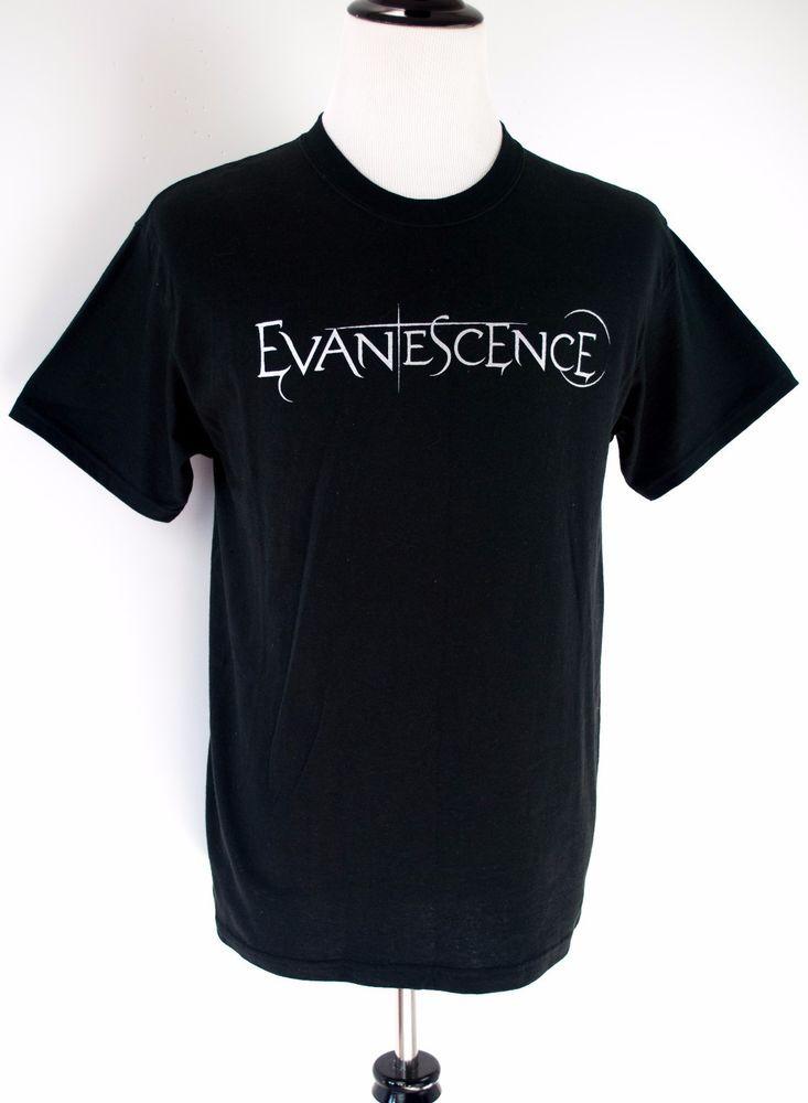 Evanescence T-Shirt Size M World Domination Tour Short Sleeve Cotton Black