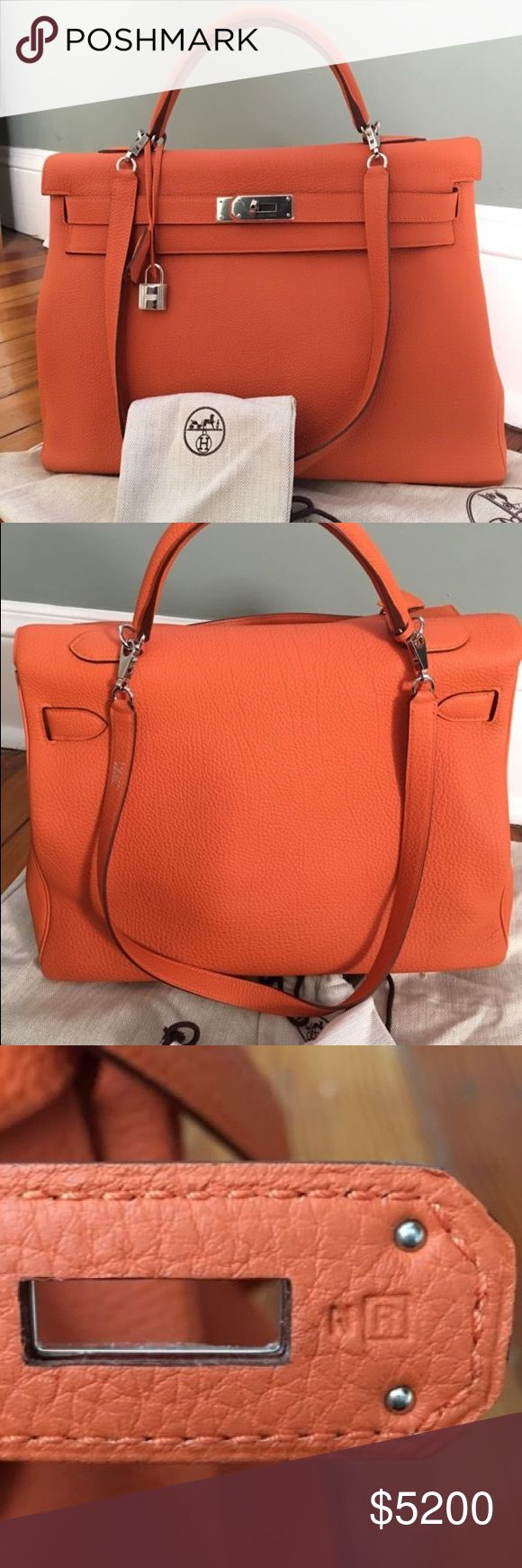 KELLY BIRKIN 40 CM! 100% Authentic. Beautiful for spring. Worn 2-3 times. 100% authentic, comes with box, and dustbag.price is negotiable off of posh and on M. Hermes Bags