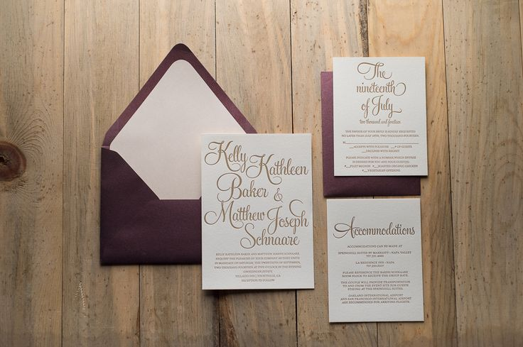 BAILEY Suite Romantic Package, blush and merlot, marsala, letterpress wedding invitations, blush and gold, calligraphy font