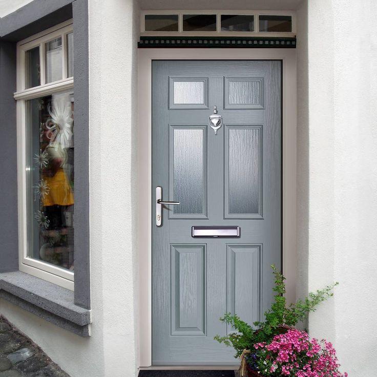 External Virtuoso Carlton Four Glazed Composite Door Shown in Slate & 25 best Rock Door Composite Door images images on Pinterest | Door ...
