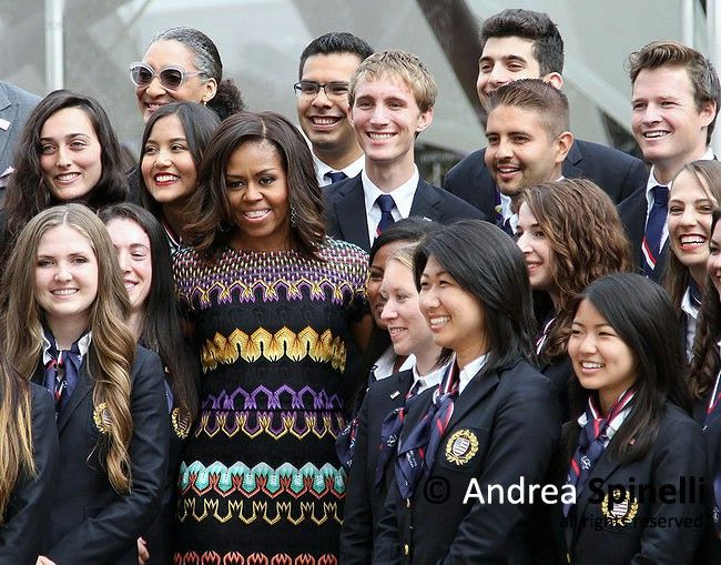 First Lady Michelle Obama visits Expo 2015 in Milan, Italy