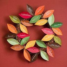 Leaves of Thanks Wreath | Community Post: Beyond The Hand Turkey:  Crafts For Thanksgiving