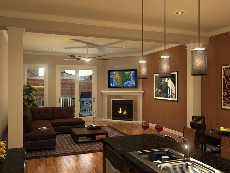 87 Best Open Concept Decor Images On Pinterest Living Room Home Ideas And For The Home