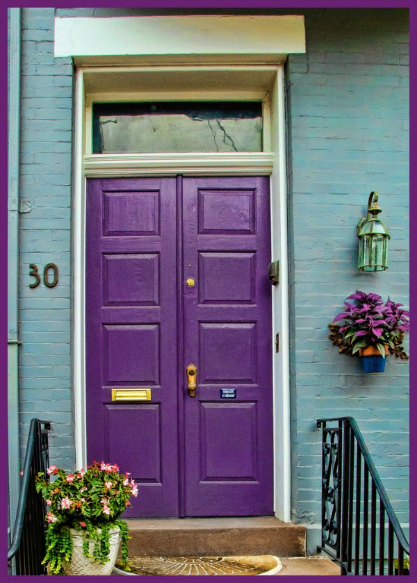 Best 25 Purple Front Doors Ideas Only On Pinterest