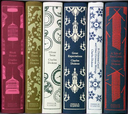 Penguin classics editions.  The Great Novels of Charles Dickens.  Published in 2012 to mark Dicken's 200th birthday.  Includes Great Expectations, Oliver Twist, Bleak House, Hard Times, A Tale of Two Cities, and A Christmas Carol (and other stories) .