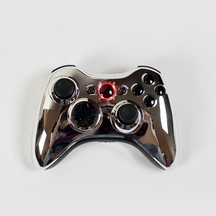 (*** http://BubbleCraze.org - If Tetris and Bubble Shooter had a kid, this would be it! ***)  Chrome Xbox 360 Controller