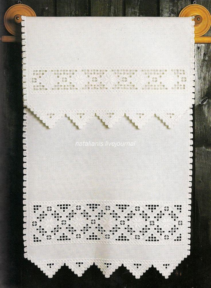 Всем, кто вяжет, дарю старые идеи для новых работ - Хардангер* салфетка белая .......................................
