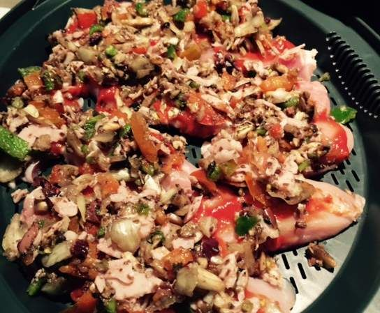 Recipe Chicken tenderloin pizzas by Safe for me with Thermie - Recipe of category Main dishes - meat