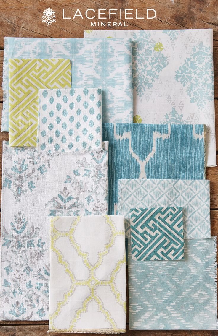 Lacefield Mineral 2015 Textile Collection www.lacefielddesigns.com---love these colors