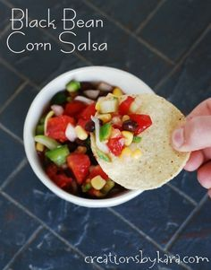 This Black Bean Corn Salsa is a must make during the summer when garden fresh tomatoes are available. It is so yummy!