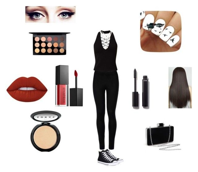 Untitled #2 by giabella-selzer on Polyvore featuring polyvore, beauty, LORAC, Smashbox, MAC Cosmetics, Lime Crime, Chanel, Miss Selfridge, Wolford and Converse