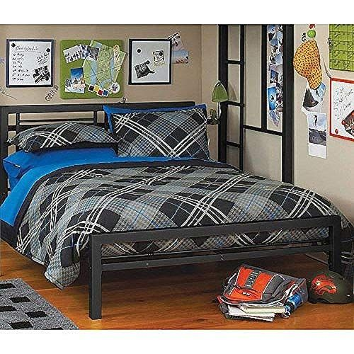 Black Full Size Metal Bed Platform Frame, Great Addition to any Kids