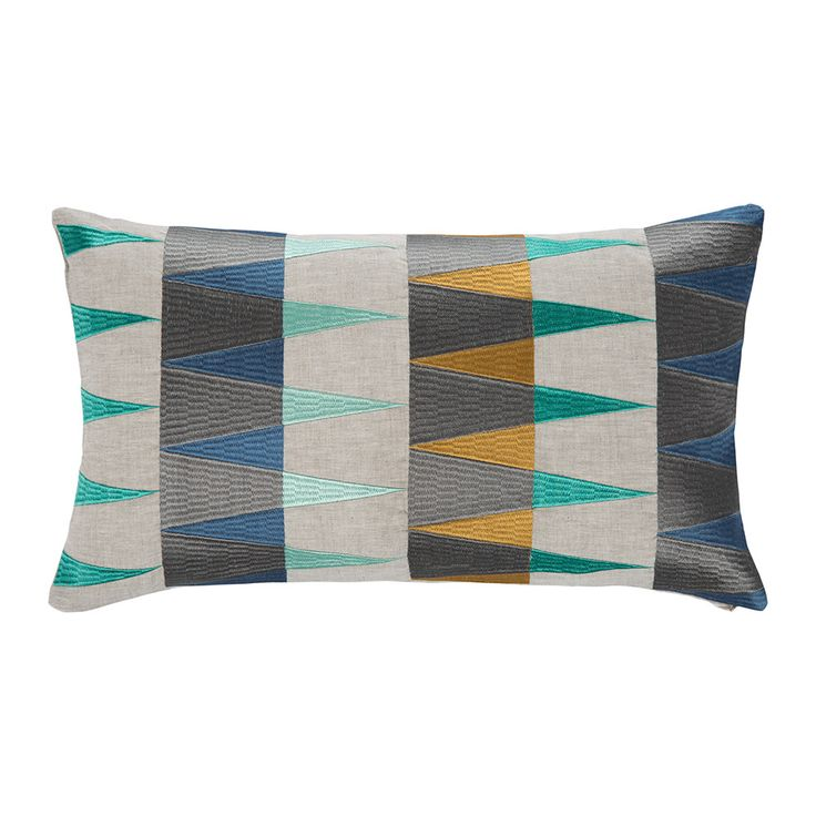 Add a touch of colour to your bedroom with this Kaledio embroidered cushion from…