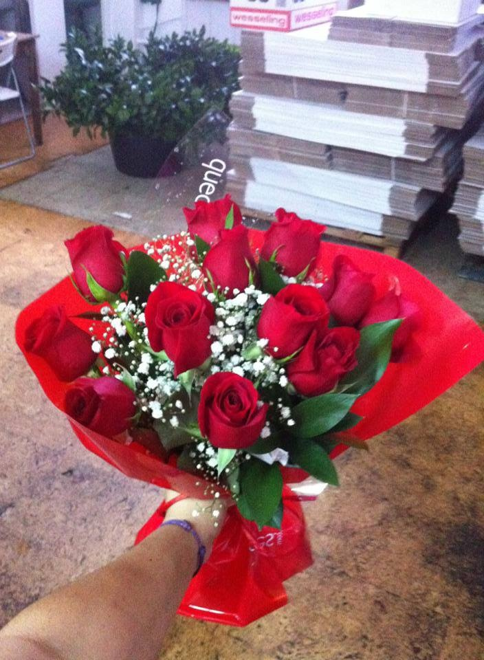 Bouquet de 12 rosas rojas por 24,90 euros sólo 18 y 19 de junio #oferta