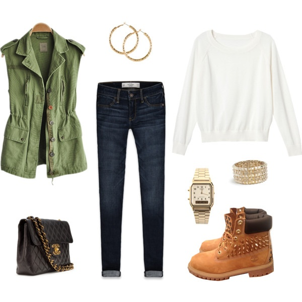 Timberlands Outfit... love the studs on the boots - Best 25+ Cute Timberland Outfits Ideas On Pinterest Timberland