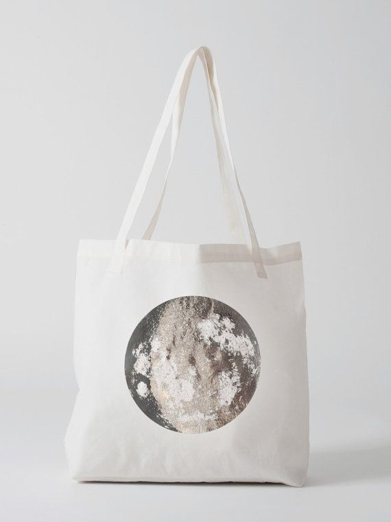 White Silver Moon grocery tote.