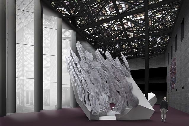 The National Gallery of Victoria (NGV) has commissioned a large-scale, interactive architectural work as part of its late-night companion program to the inaugural NGV Triennial.