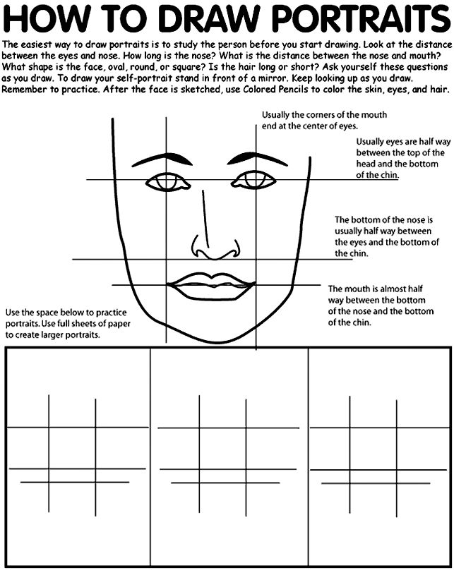 How To Draw Portraits Coloring Page