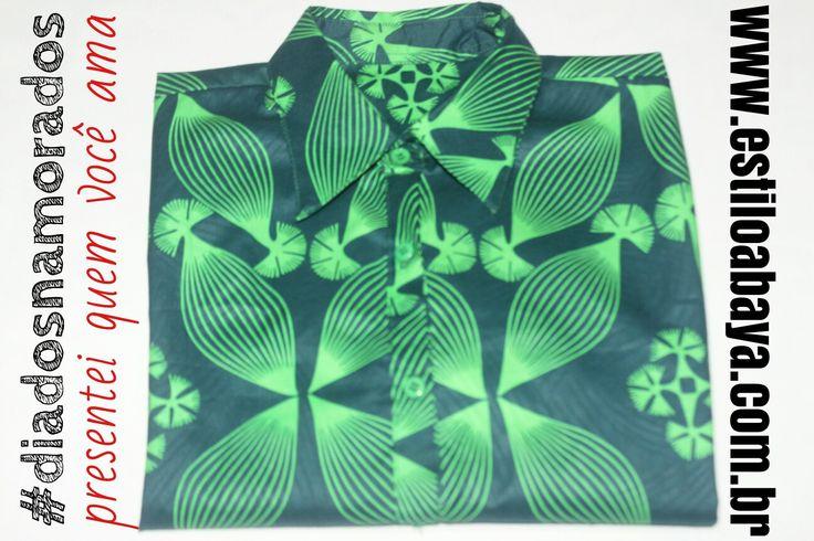www.estiloabaya.com.br  Camisas femininas, tecido importado!  Última peça, tamanho M, modelagem slim, manga longa!  Dias dos namorados, presentei com Estilo AbayA!  Arte de vestir!  #camisa #estiloabaya #modaunissex #modaurbana #modaalternativa #modaartesanal #diversidade #africa #tecidoafricano #estampaafricana #estampa #artedevestir