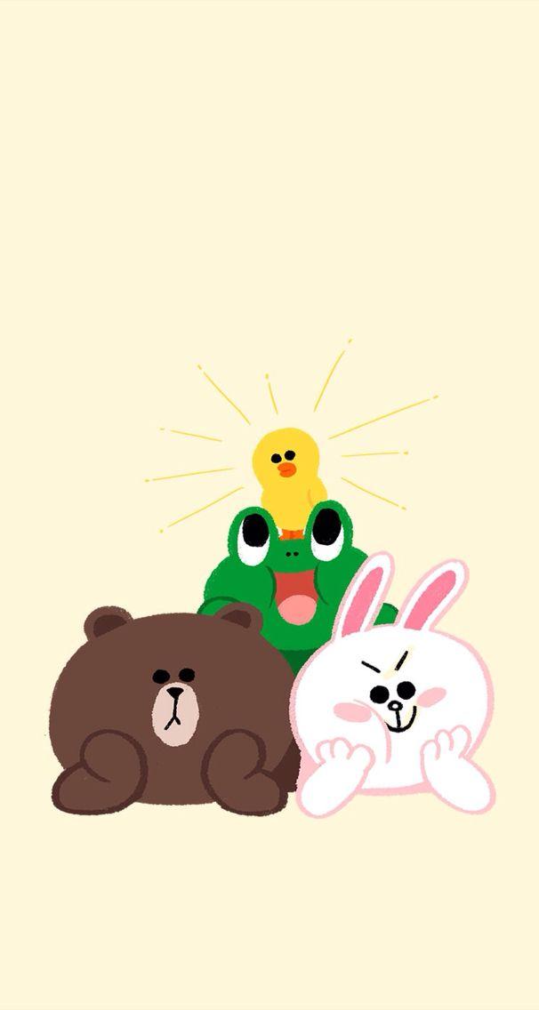 Brown Wallpaper Iphone X Line Friends Brown Amp Cony Pinterest Fondos De