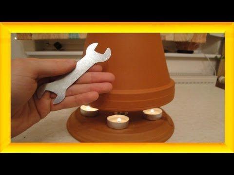 Teelichtofen Lampe selbst bauen, 50 °C + mit DIY Selbstversorger - Candle powered heater - YouTube