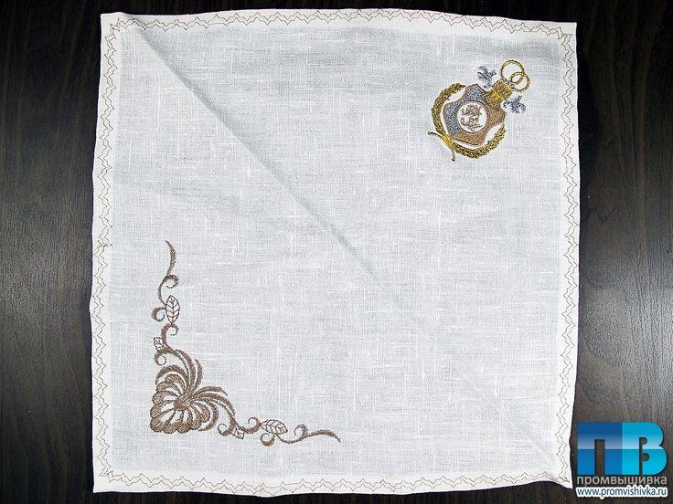 Вышивка салфетки на свадьбу #embroidery