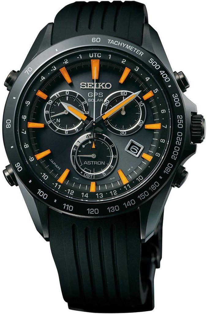 Seiko Astron Watch GPS Solar Chronograph #bezel-fixed #bracelet-strap-rubber…