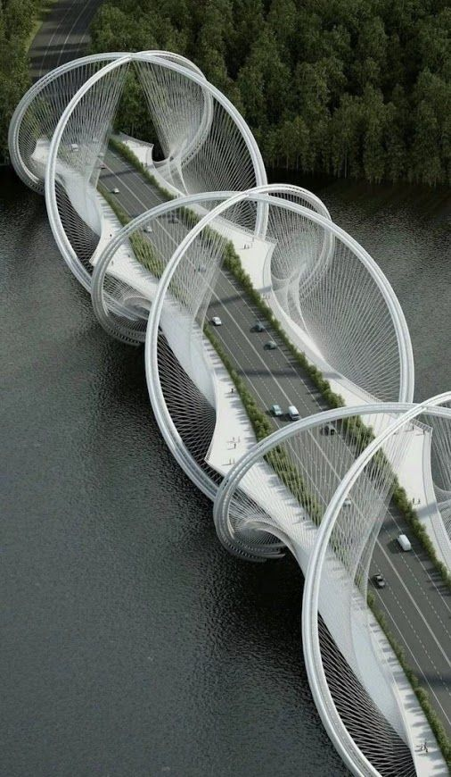 Bachir H. - Google+  Who can tell me were this bridge is? I got it! It is a Penda designed bridge for the winter olympic games in Beijing, 2022 The San Shan bridge.