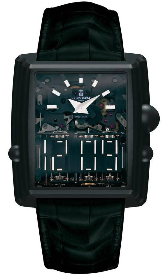 As cool watches go the Di Grisogono Meccanica DG is the most complicated mechanical digital watch in the world