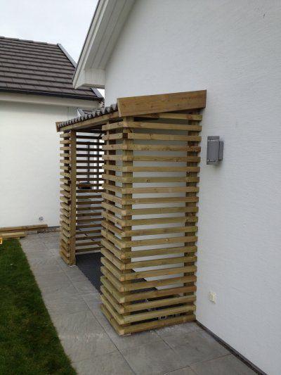 Vedskjul wooden shed