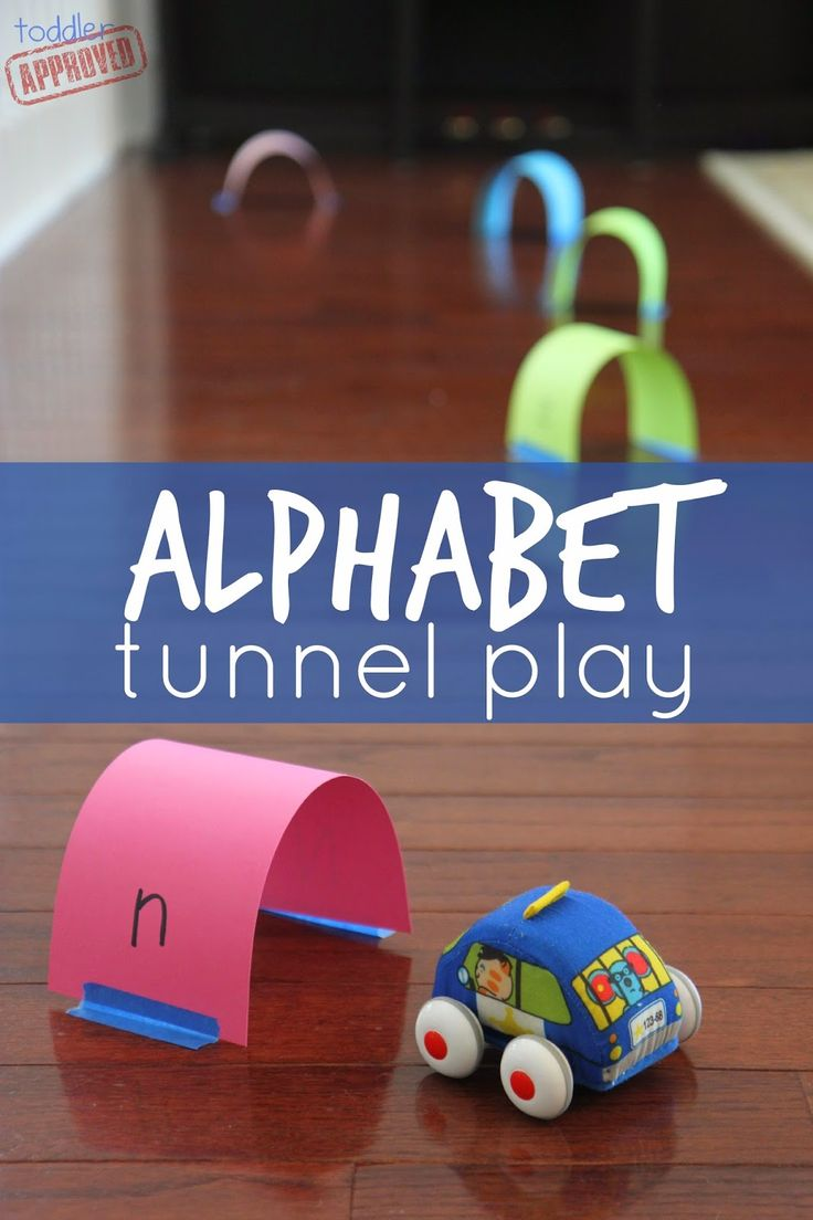 Toddler Approved!: Alphabet Tunnel Play