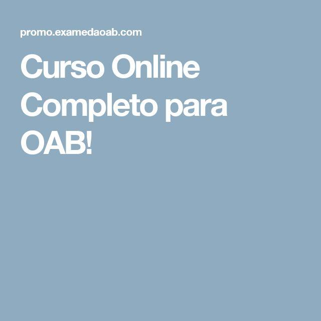 Curso Online Completo para OAB!