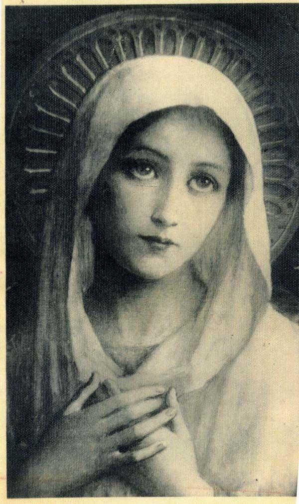 Art Nouveau French Silver Vintage Virgin Mary by CherishedSaints